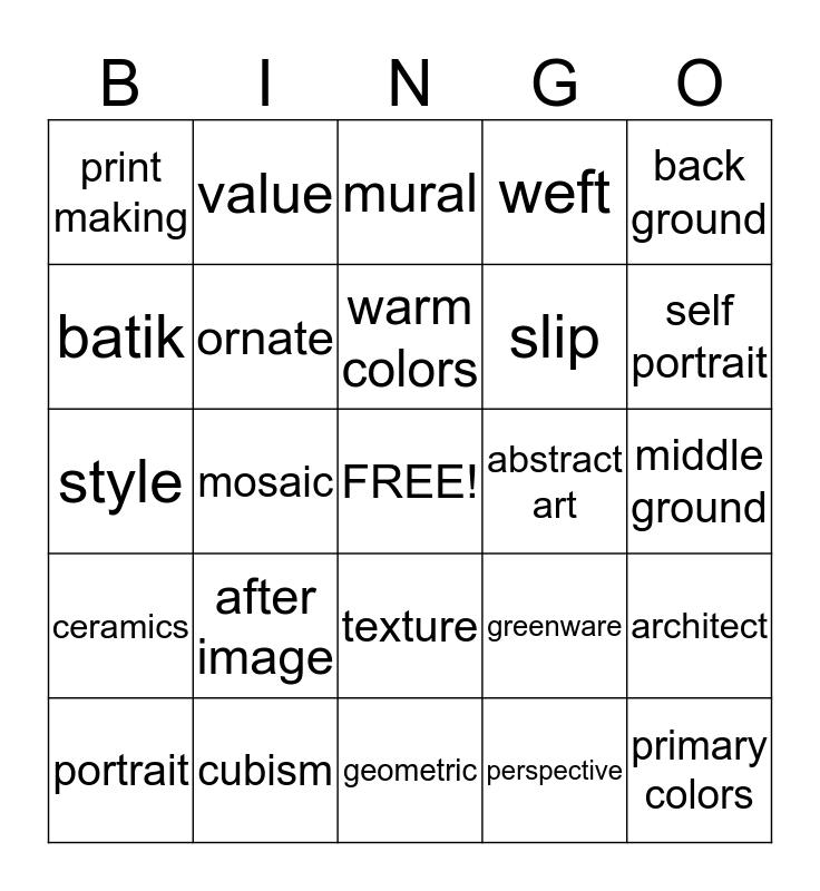 bARTo Bingo Card