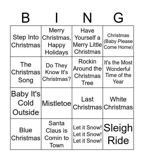 Playlist Bingo Card