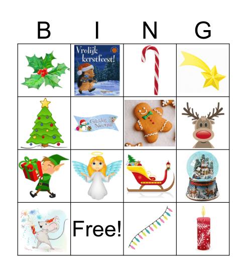 Noël / nouveau année Bingo Card