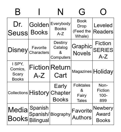 Library Scavenger Hunt - MartinS Bingo Card