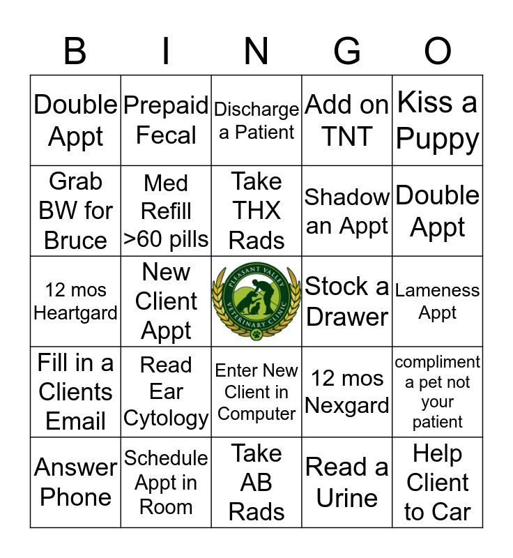 Techs Bingo Card