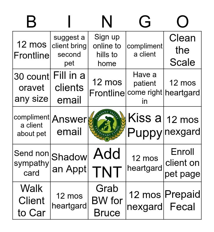 Reception Bingo Card