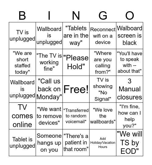 NOS Bingo Card