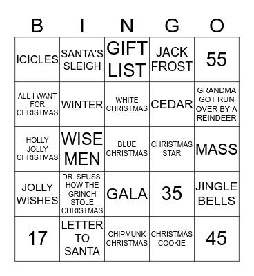 RIVER ISLAND Bingo Card