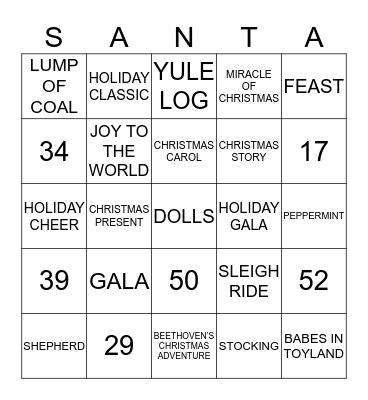East Main Christmas Bingo Card