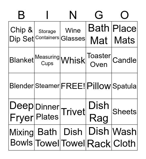 Matt & Lisa's Wedding Bingo Card