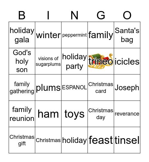 NAVIDAD EN USA Y PAISES HISPANOS Bingo Card
