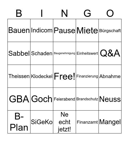 terrana Weihnachts - Bingo Card