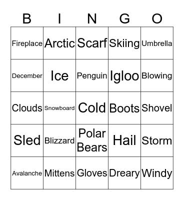 WINTER! Bingo Card