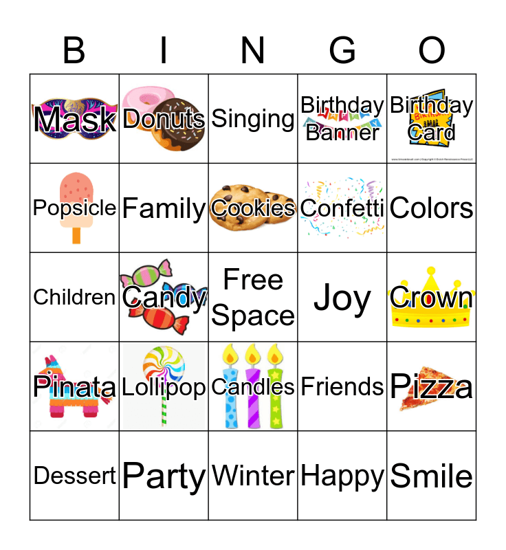 BIRTHDAY BINGO Card