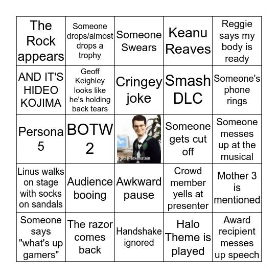 THE GAME AWARDS 2019 BINGO BOARD Bingo Card