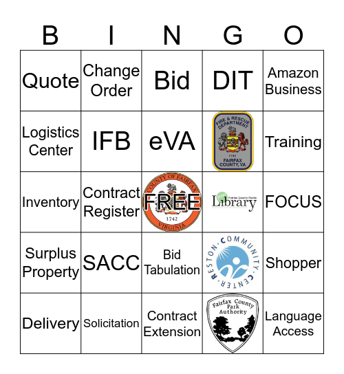 DPMM Bingo Card