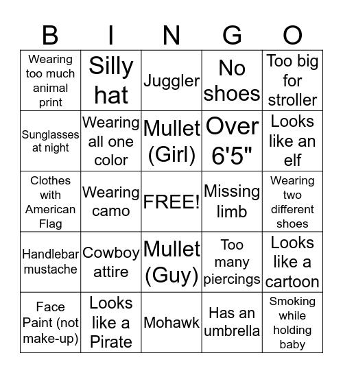 BBQ Bingo Card