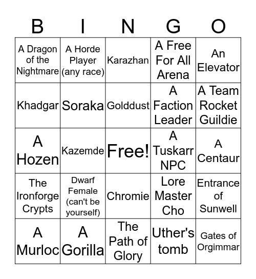 Team Rocket Bingo Card