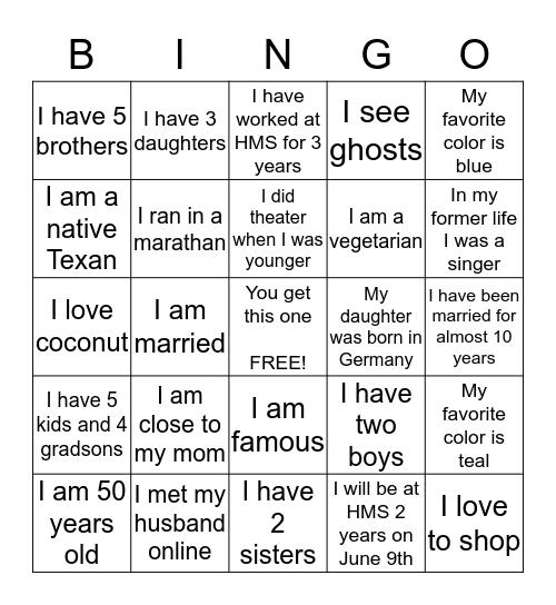 2 Truths and 1 Lie Bingo Card