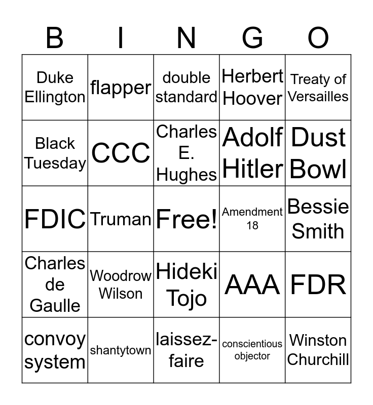 Final 2019 Bingo Contemporary Bingo Card