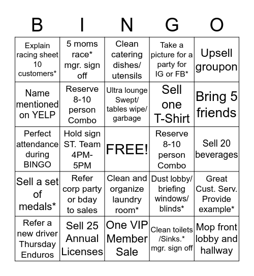 CSR BINGO MAY 13 - 25 Bingo Card