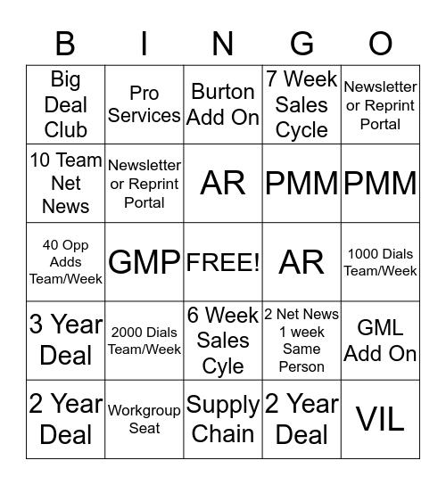 Q2 HT BDE - Driving NCVI Bingo  Bingo Card