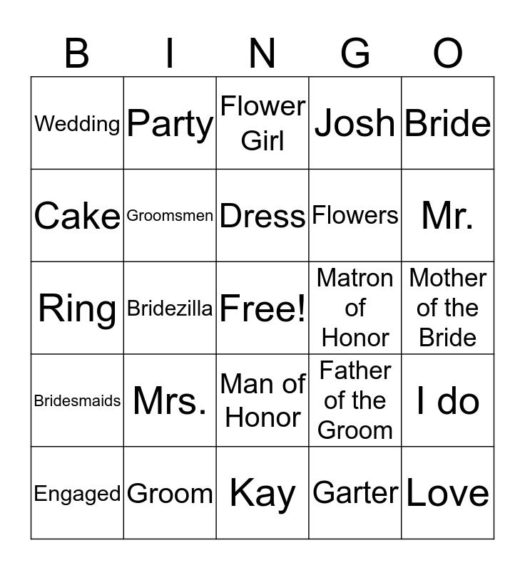 Engagement BINGO Card