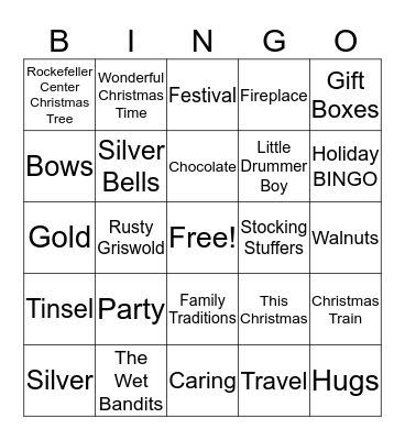 Outlaws Bingo Card
