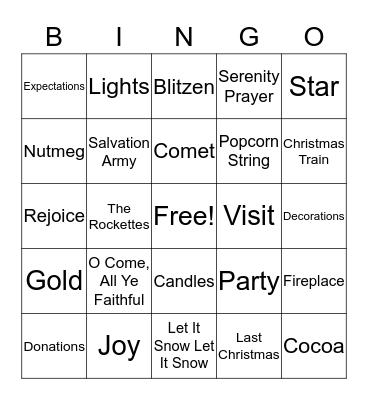 JINGLE Bingo Card