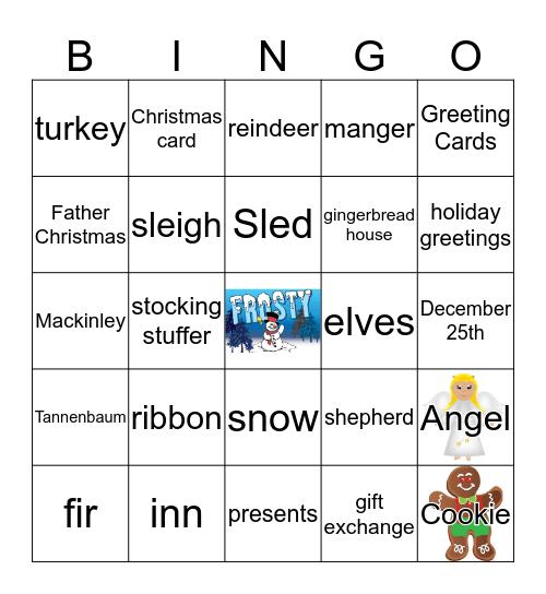 CHRISTMAS BINGO 2018 Bingo Card