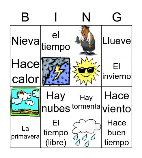 ¿Qué tiempo hace hoy? Bingo Card