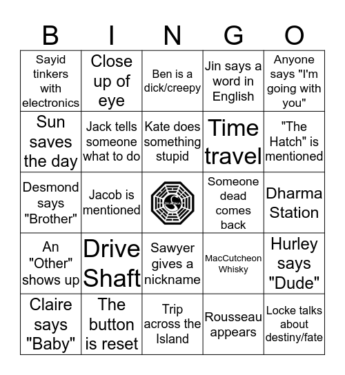 Lost Bingo Card