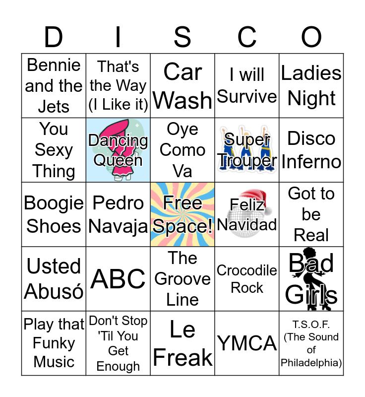 Groovy Hits of the 1970s! Bingo Card