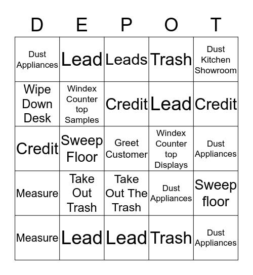 Home Depot Bingo! Bingo Card
