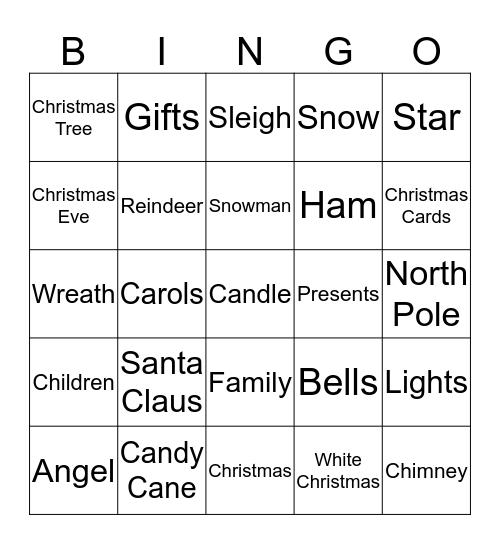 Christmas! Bingo Card