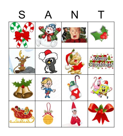 Christmas SANTA Bingo Game Bingo Card