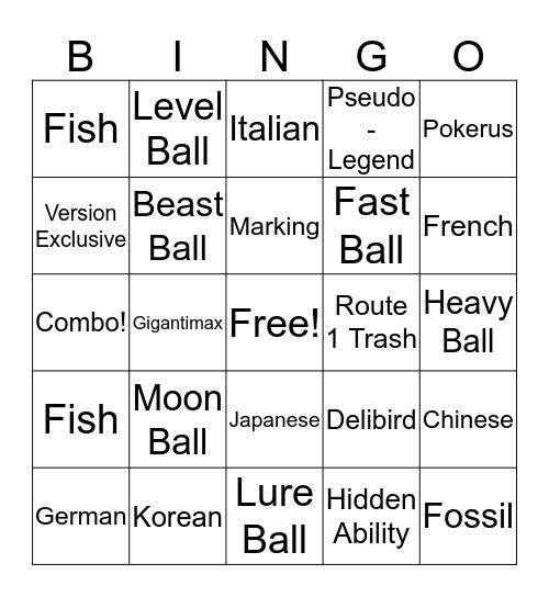 Surprise Trade Bingo! Bingo Card