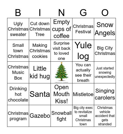 Hallmark Christmas Bingo Card