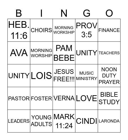 NEW HOPE BINGO!!! Bingo Card