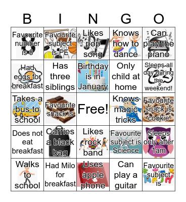 Get to know you Bingo! Bingo Card