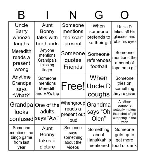 Fruit Tea Bingo Card