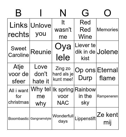 Ou&Nieuw Swingo 2019/2020 Bingo Card