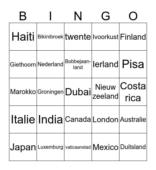 FA landen bingo  Bingo Card