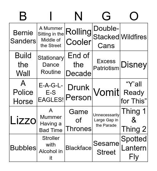 Mummers  Bingo 2019 Bingo Card