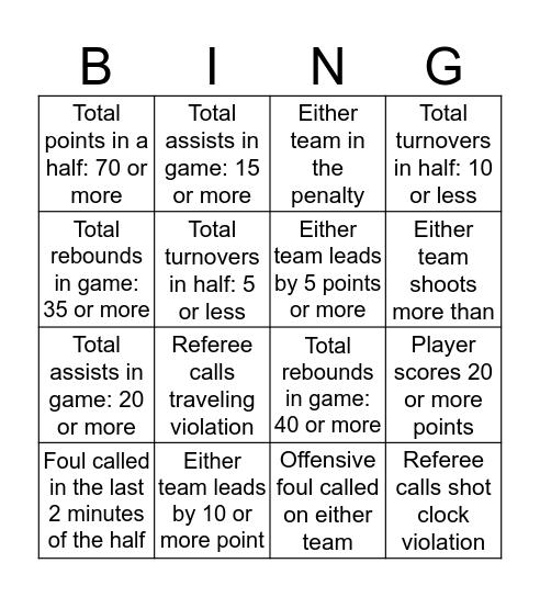 Minutewomen Bingo Card