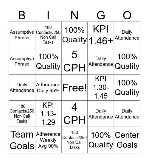 BINGO! It's a New Year Bingo Card