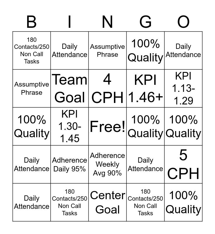 BINGO! It's a New Year! Bingo Card