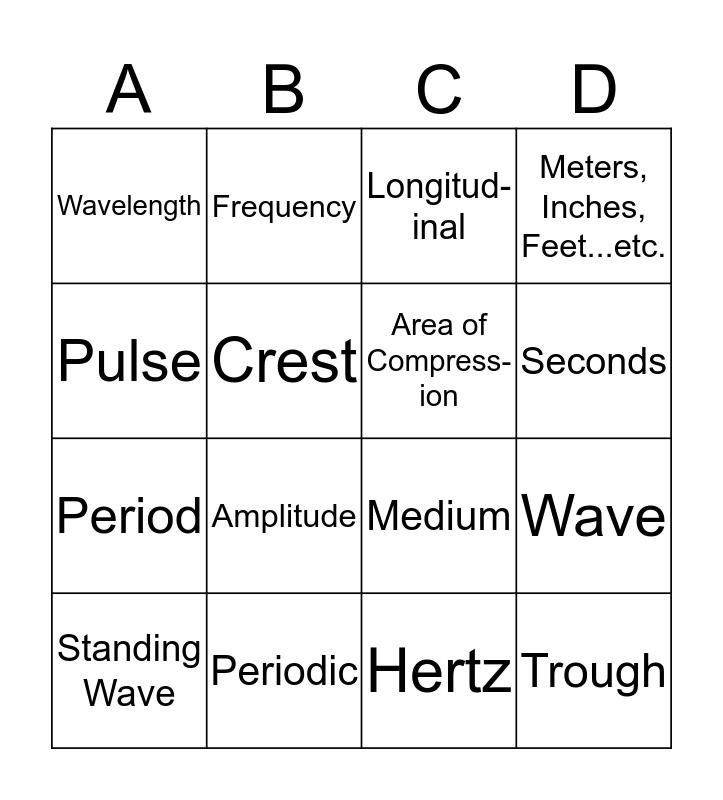 Waves Project Bingo Card