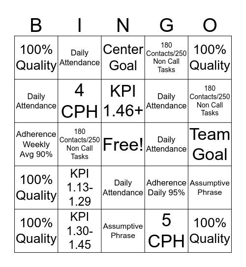 BINGO!! It's a New Year! Bingo Card