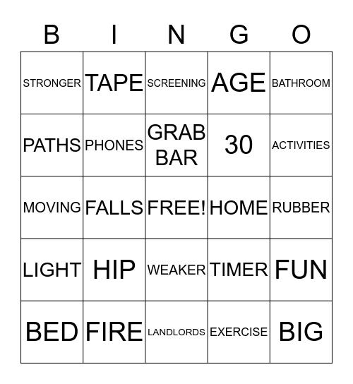 HEALTHY STEPS BINGO  Bingo Card