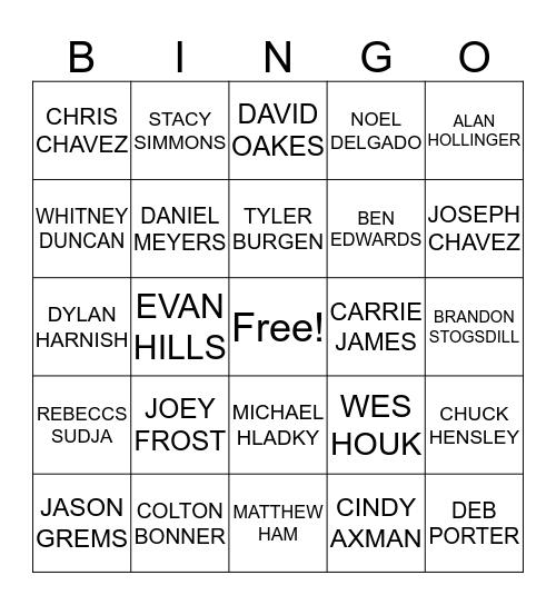 DCCF Bingo Card