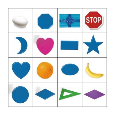Shapes Bingo Card