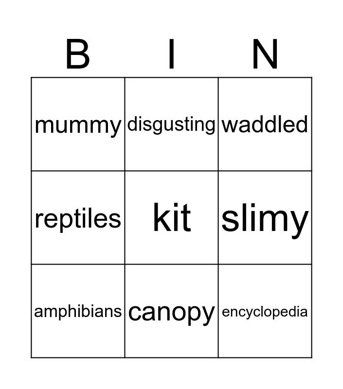 Judy Moody - Chapter 7-9 Bingo Card