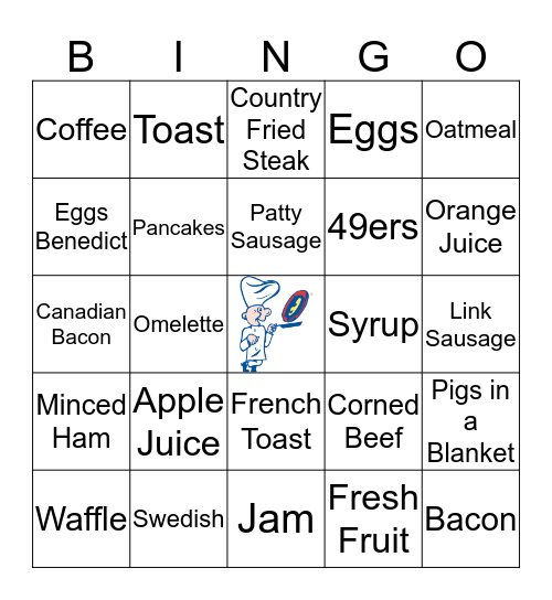 The Original Pancake House Bingo Card